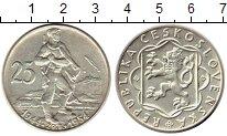 Монета Чехословакия 25 крон Серебро 1954 UNC- фото