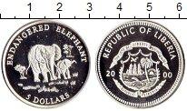 Изображение Монеты Либерия 5 долларов 2000 Серебро Proof-