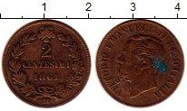 Изображение Монеты Италия 2 сентесимо 1861 Бронза XF
