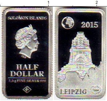 Картинка Монеты Соломоновы острова 1/2 доллара Серебро 2015