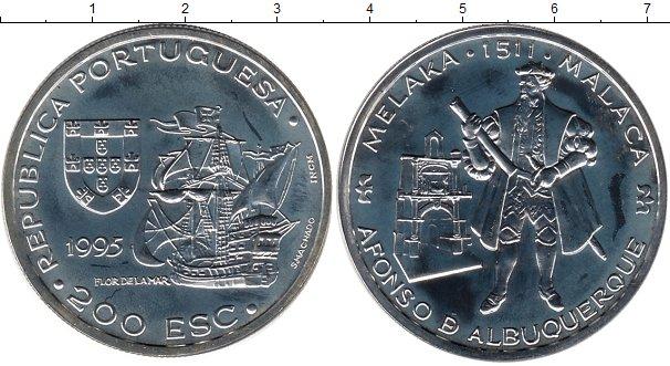 Картинка Монеты Португалия 200 эскудо Серебро 1995