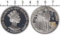 Изображение Монеты Великобритания Фолклендские острова 5 фунтов 1997 Серебро Proof