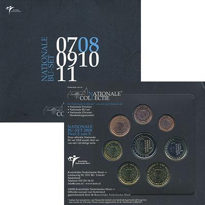 Изображение Подарочные монеты Нидерланды Евронабор 2008 2008  UNC В наборе 8 монет ном