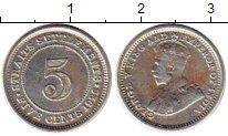 Изображение Монеты Великобритания Стрейтс-Сеттльмент 5 центов 1926 Серебро XF-