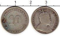Изображение Монеты Великобритания Стрейтс-Сеттльмент 10 центов 1910 Серебро XF-