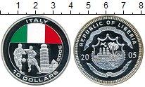 Монета Либерия 10 долларов Серебро 2005 Proof- фото