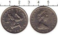 Изображение Монеты Великобритания Остров Мэн 10 пенсов 1975 Медно-никель XF