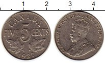 Изображение Монеты Канада 5 центов 1927 Медно-никель XF