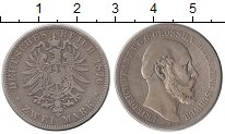 Изображение Монеты Германия Мекленбург-Шверин 2 марки 1876 Серебро VF