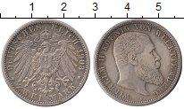 Изображение Монеты Германия Вюртемберг 2 марки 1903 Серебро XF
