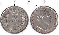 Изображение Монеты Великобритания 6 пенсов 1831 Серебро XF