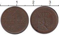 Изображение Монеты Германия Гессен-Дармштадт 1 пфенниг 1870 Медь XF