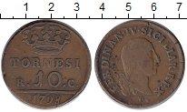 Изображение Монеты Италия Сицилия 10 торнеси 1798 Медь XF