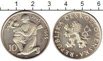 Изображение Монеты Чехия Чехословакия 10 крон 1955 Серебро Proof-