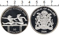 Изображение Монеты Малави 50 квач 2006 Серебро Proof-