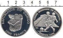 Изображение Монеты Конго 1000 франков 2001 Серебро Proof-