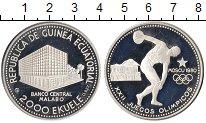 Изображение Монеты Экваториальная Гвинея 2000 экуэль 1980 Серебро Proof