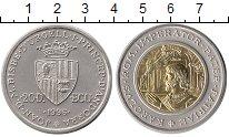 Изображение Монеты Андорра 20 динерс 1996 Серебро UNC-