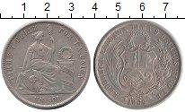 Изображение Монеты Перу 1 соль 1869 Серебро XF