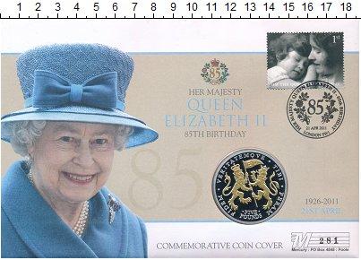 Изображение Подарочные монеты Остров Джерси 5 фунтов 2011 Серебро Proof Монета номиналом 5 ф