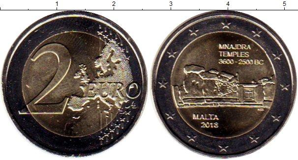 Картинка Мелочь Мальта 2 евро Биметалл 2018