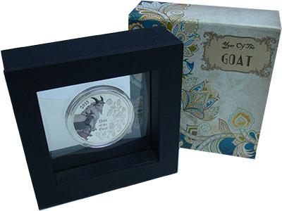 Изображение Подарочные монеты Конго 1.000 франков 2015 Серебро Proof Год козы
