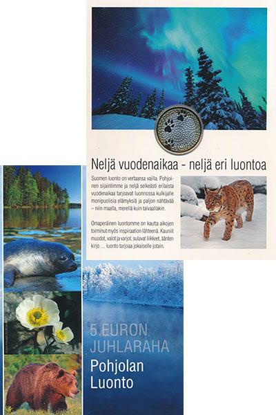 Изображение Подарочные монеты Финляндия 5 евро 2012 Биметалл UNC Северная природа. Фа