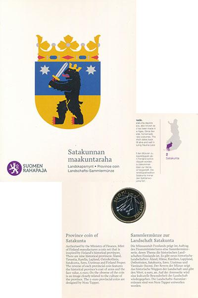 Изображение Подарочные монеты Финляндия 5 евро 2010 Биметалл UNC Исторические провинц
