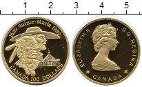 Изображение Монеты Канада 100 долларов 1989 Золото Proof