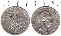 Изображение Монеты Германия Пруссия 3 марки 1910 Серебро XF-