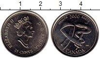 Изображение Монеты Канада 25 центов 2000 Медно-никель UNC