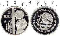 Изображение Монеты Мексика 100 песо 1985 Серебро Proof