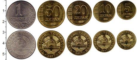 Изображение Наборы монет Таджикистан Годовой набор 2011 года 2017  UNC