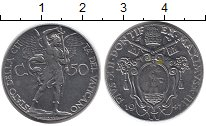 Изображение Монеты Ватикан 50 сентесим 1941 Никель UNC-