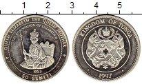 Монета Тонга 50 сенити Серебро 1997 Proof- фото