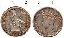 Изображение Монеты Великобритания Родезия 1 шиллинг 1937 Серебро XF