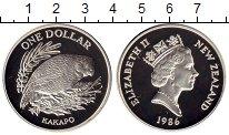 Изображение Мелочь Новая Зеландия 1 доллар 1986 Серебро Proof