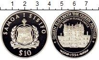 Монета Самоа 10 долларов Серебро 1994 Proof фото
