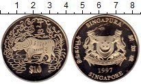 Изображение Монеты Сингапур 10 долларов 1997 Медно-никель UNC