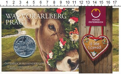 Изображение Подарочные монеты Австрия 10 евро 2013 Серебро Proof Федеральные земли: Ф