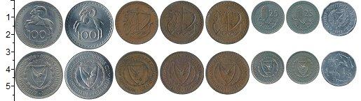 Изображение Наборы монет Кипр Набор 2004-2008 0  UNC- Набор из восьми моне