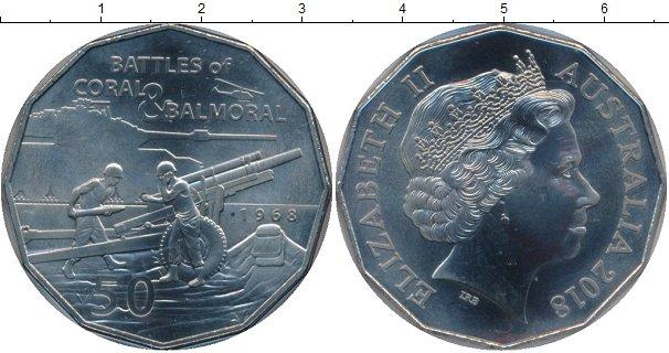 Картинка Подарочные монеты Австралия 50 центов Медно-никель 2018