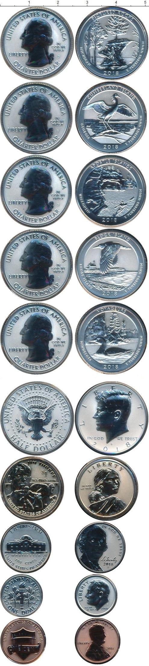 Картинка Подарочные монеты США Набор 2004-2008  2018