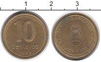 Изображение Дешевые монеты Аргентина 10 сентаво 1993 Латунь XF