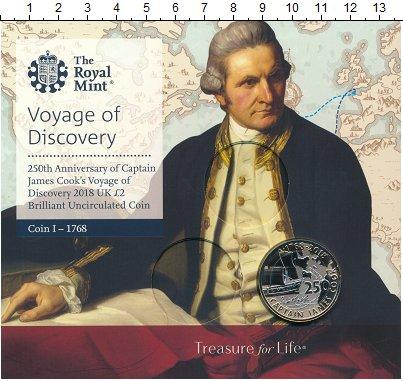 Изображение Подарочные монеты Великобритания 2 фунта 2018 Биметалл UNC