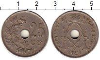Изображение Монеты Бельгия 25 сантим 1921 Медно-никель VF