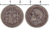 Изображение Монеты Испания 1 песета 1883 Серебро VF
