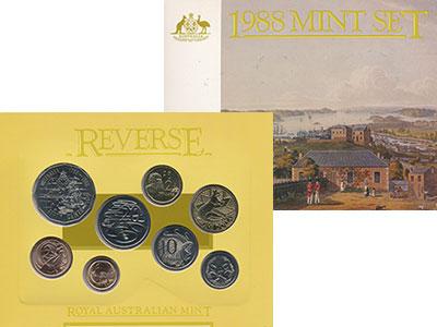 Изображение Подарочные монеты Австралия Набор 1988 года 1988  UNC В набор входят семь