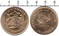 Изображение Монеты Чили 100 песо 1955 Золото UNC