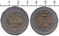 Изображение Монеты Хорватия 25 кун 2002 Биметалл UNC-